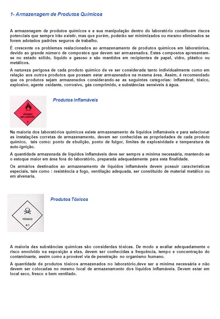 1- Armazenagem de Produtos Químicos