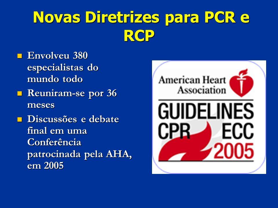 Novas Diretrizes para PCR e RCP