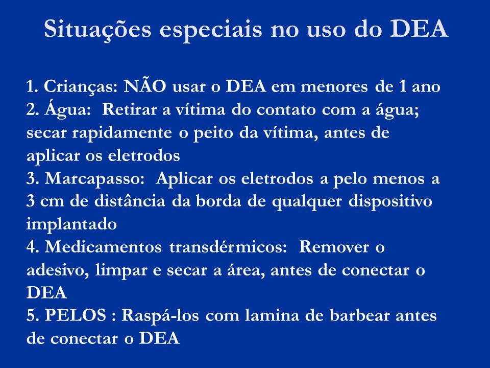 Situações especiais no uso do DEA