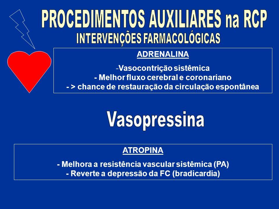 Vasopressina PROCEDIMENTOS AUXILIARES na RCP