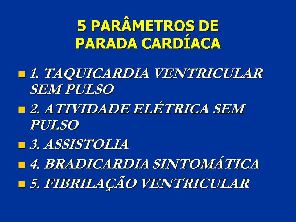 5 PARÂMETROS DE PARADA CARDÍACA