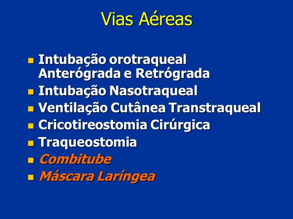 Vias Aéreas Intubação orotraqueal Anterógrada e Retrógrada
