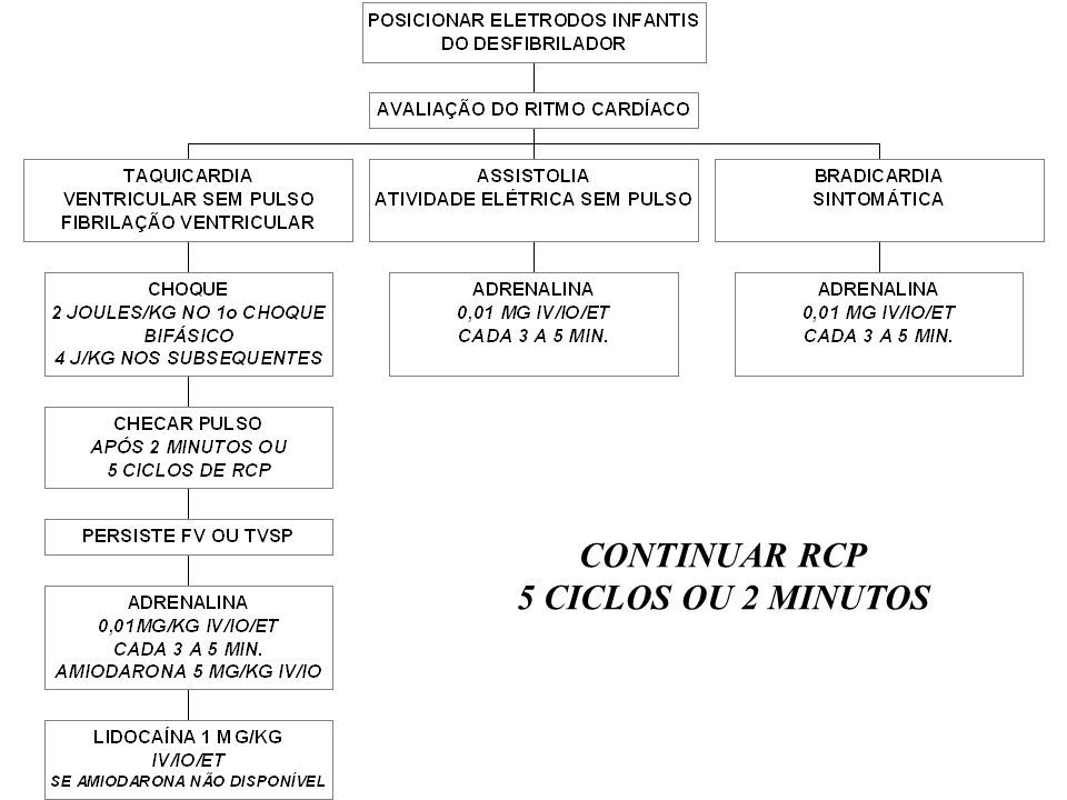 CONTINUAR RCP 5 CICLOS OU 2 MINUTOS