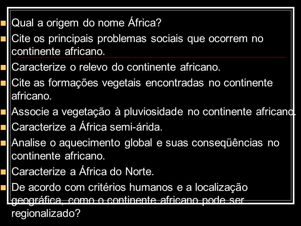 Qual a origem do nome África