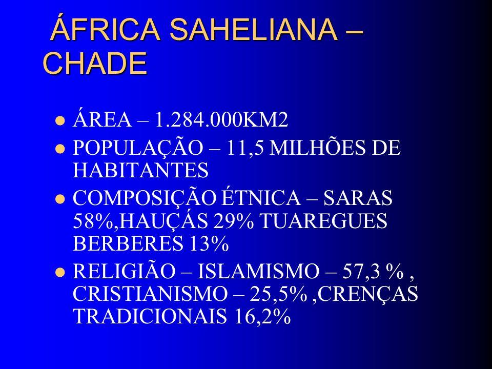 ÁFRICA SAHELIANA – CHADE