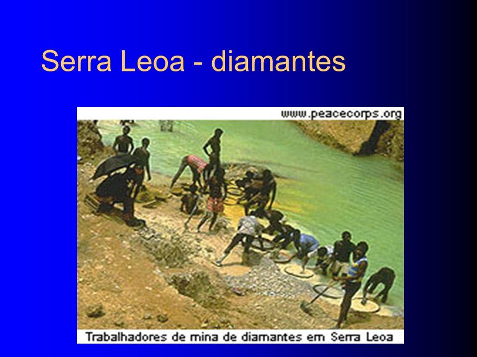 Serra Leoa - diamantes