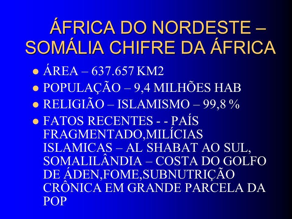 ÁFRICA DO NORDESTE – SOMÁLIA CHIFRE DA ÁFRICA