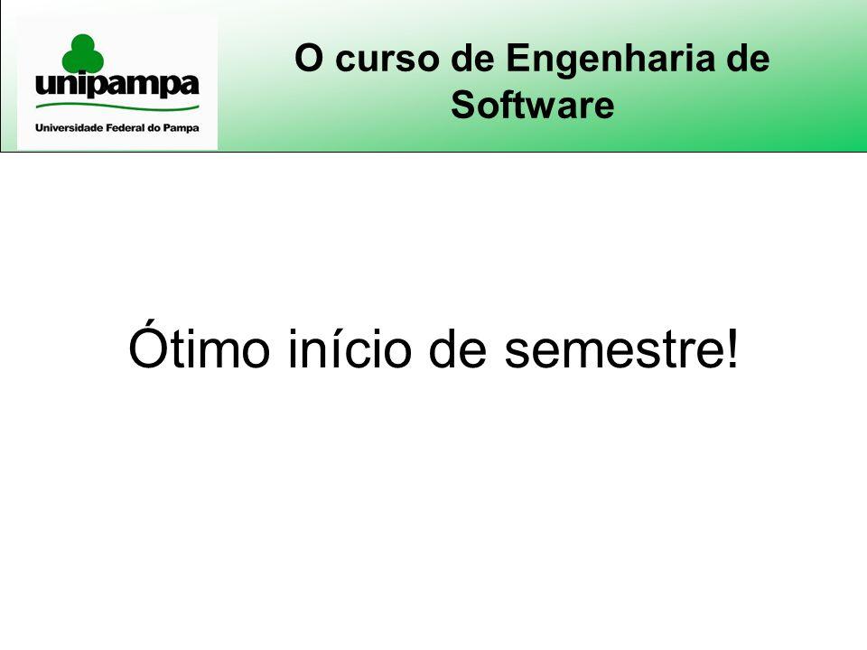 O curso de Engenharia de Software