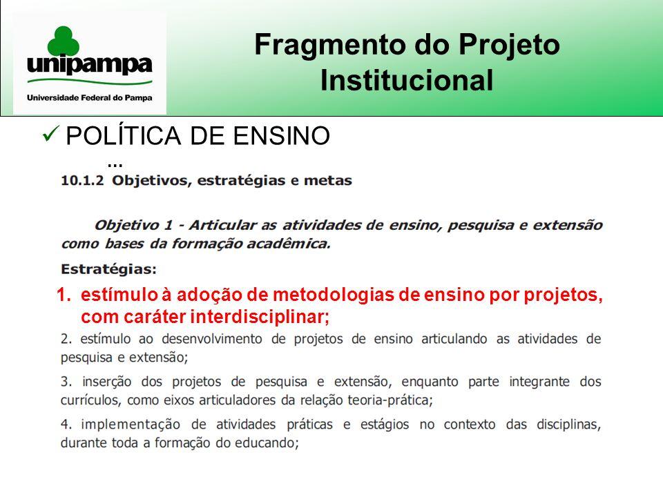 Fragmento do Projeto Institucional