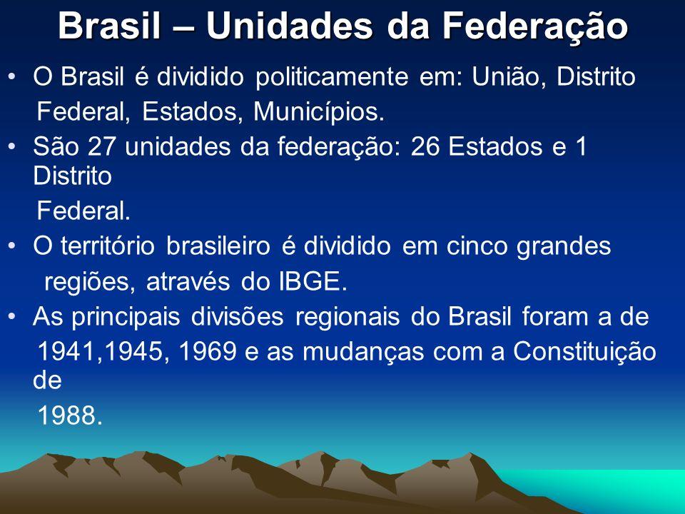 Brasil – Unidades da Federação