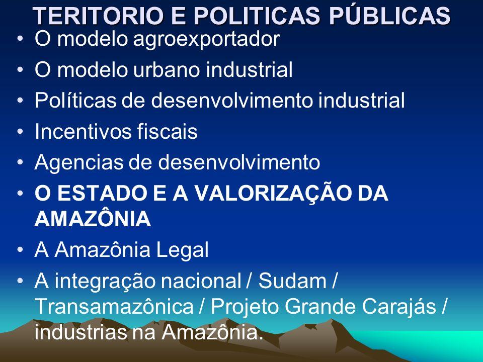 TERITORIO E POLITICAS PÚBLICAS