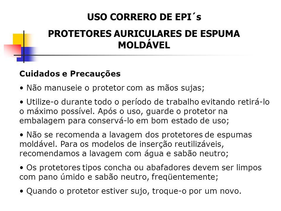 PROTETORES AURICULARES DE ESPUMA MOLDÁVEL