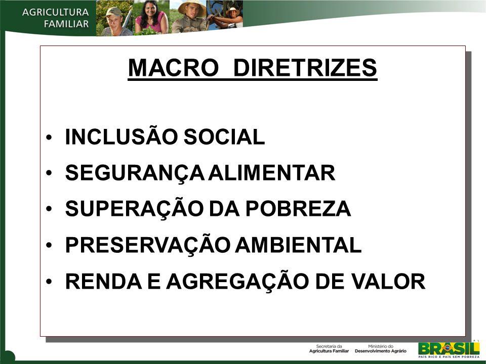 MACRO DIRETRIZES INCLUSÃO SOCIAL SEGURANÇA ALIMENTAR
