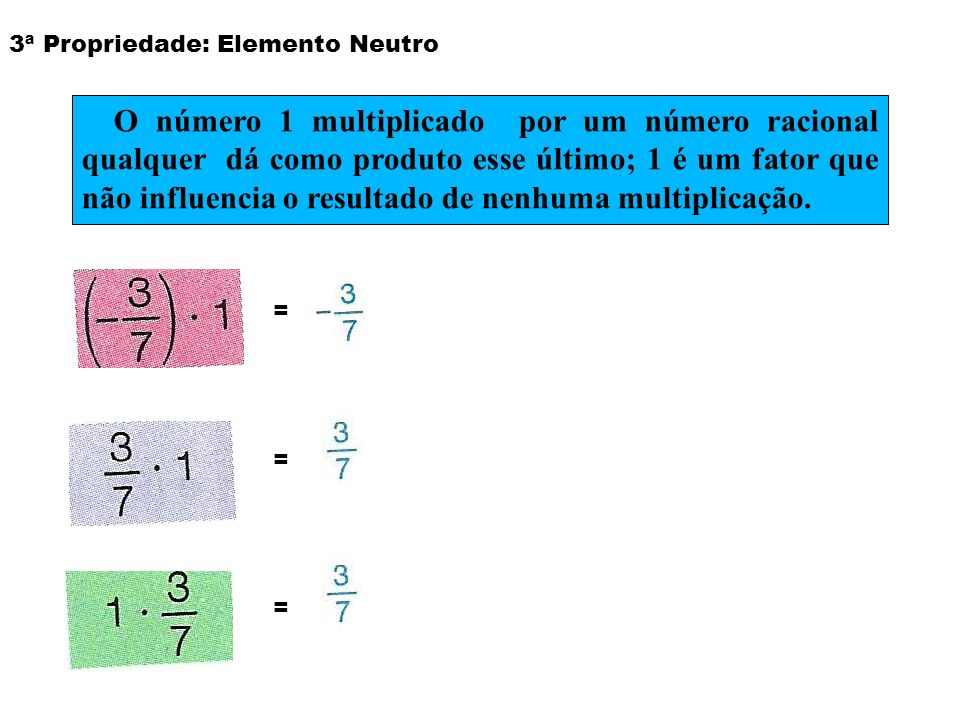 3ª Propriedade: Elemento Neutro