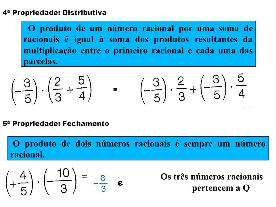 O produto de dois números racionais é sempre um número racional.