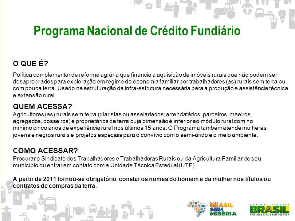 Programa Nacional de Crédito Fundiário