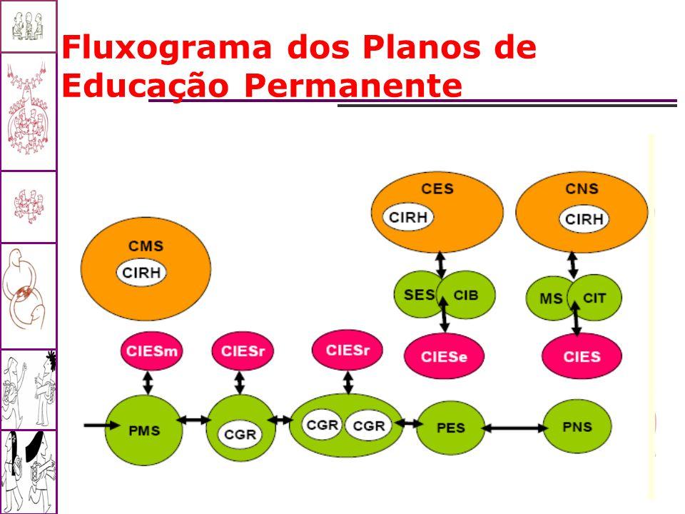 Fluxograma dos Planos de Educação Permanente