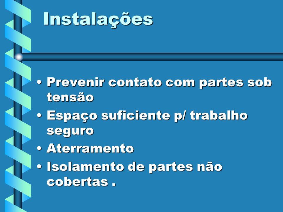 Instalações Prevenir contato com partes sob tensão