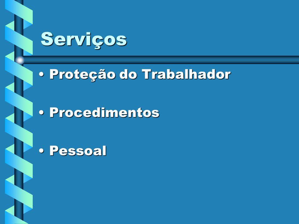 Serviços Proteção do Trabalhador Procedimentos Pessoal