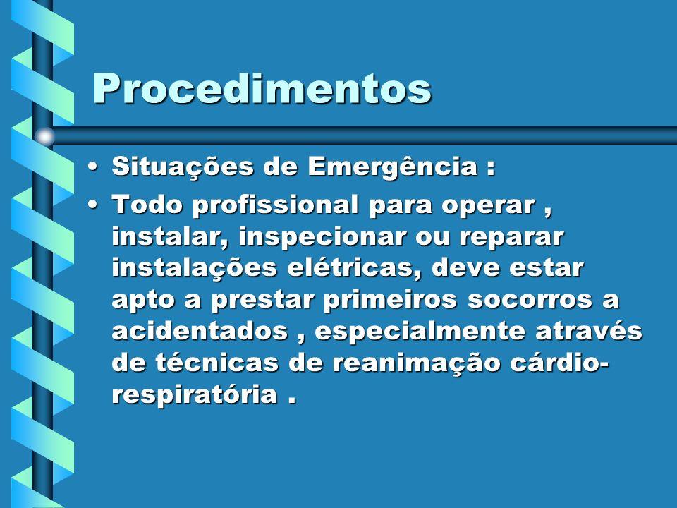 Procedimentos Situações de Emergência :