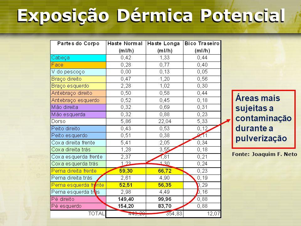 Exposição Dérmica Potencial Exposição Dérmica Potencial