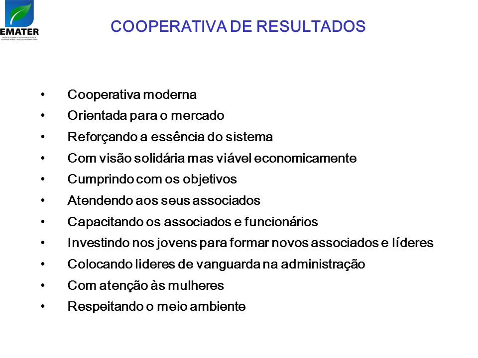 COOPERATIVA DE RESULTADOS