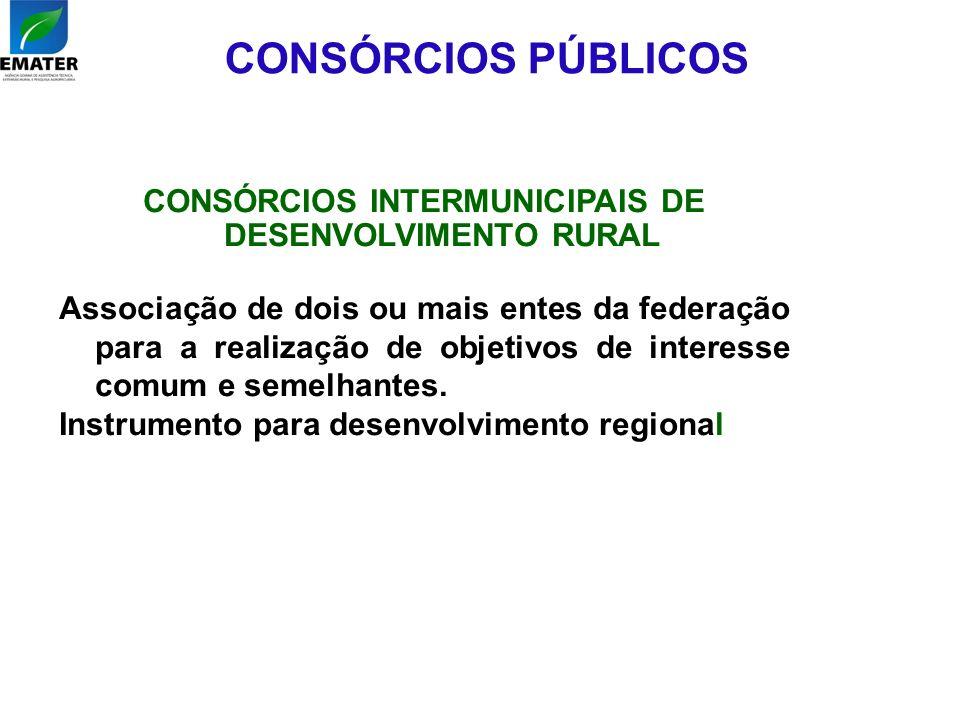CONSÓRCIOS INTERMUNICIPAIS DE DESENVOLVIMENTO RURAL