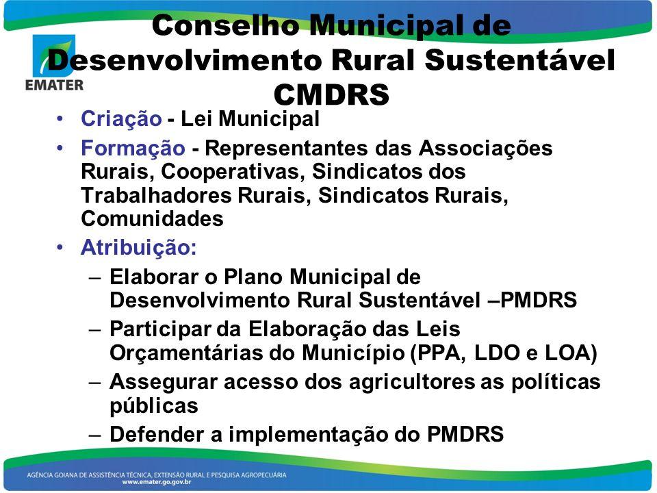 Conselho Municipal de Desenvolvimento Rural Sustentável CMDRS