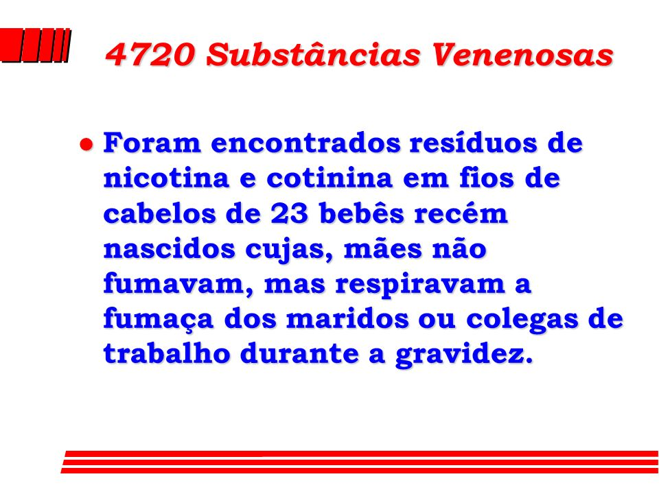 4720 Substâncias Venenosas