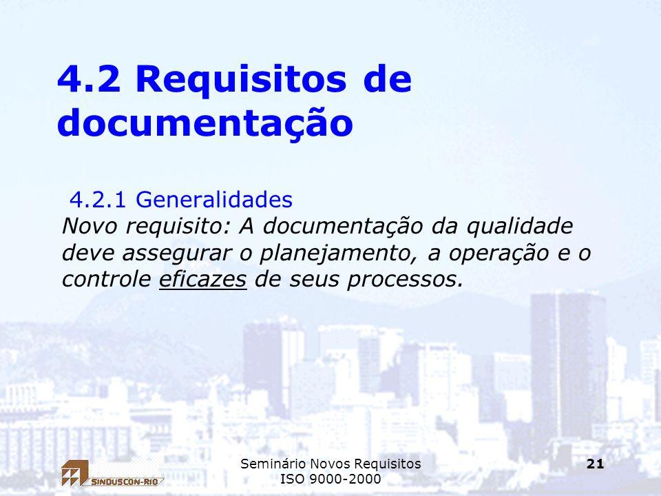 4.2 Requisitos de documentação