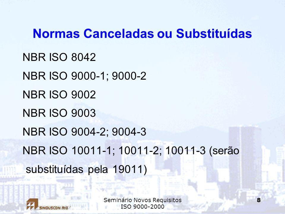 Normas Canceladas ou Substituídas