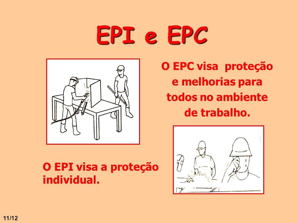 O EPC visa proteção e melhorias para todos no ambiente de trabalho.