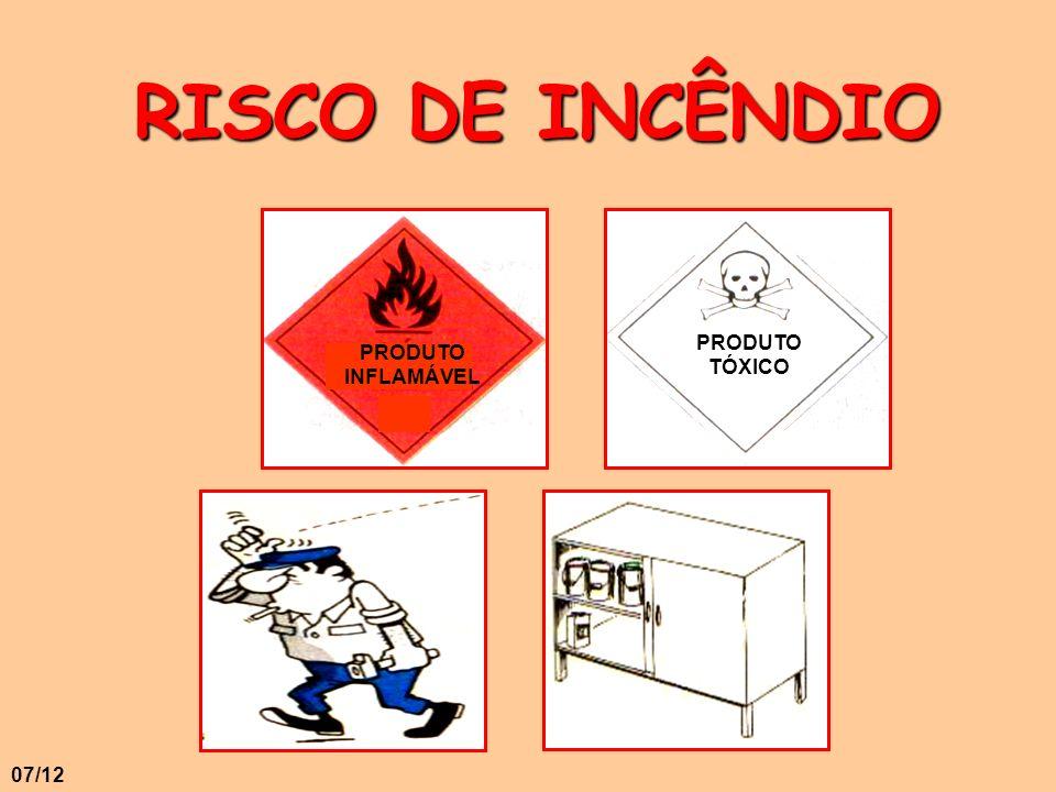 RISCO DE INCÊNDIO PRODUTO TÓXICO PRODUTO INFLAMÁVEL 07/12