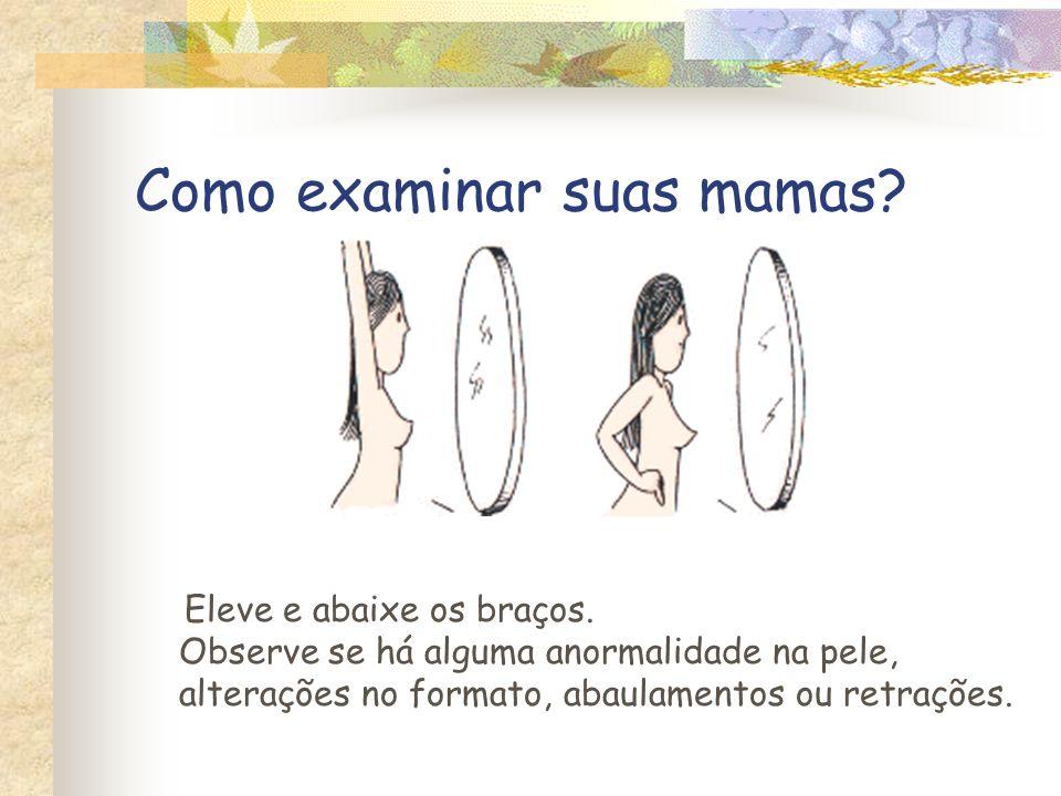 Como examinar suas mamas