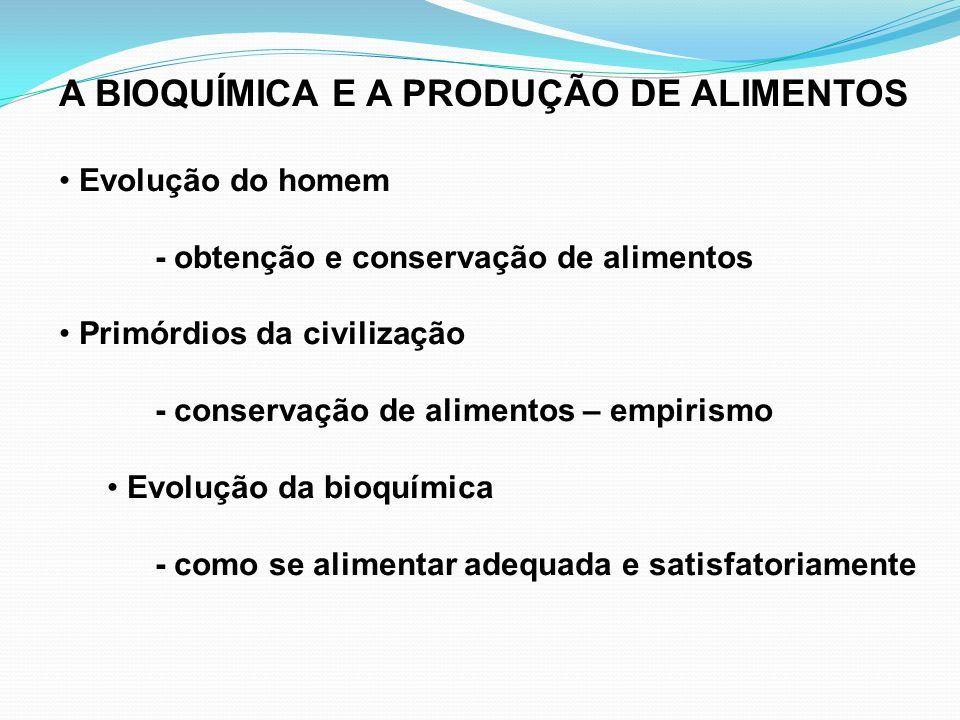A BIOQUÍMICA E A PRODUÇÃO DE ALIMENTOS