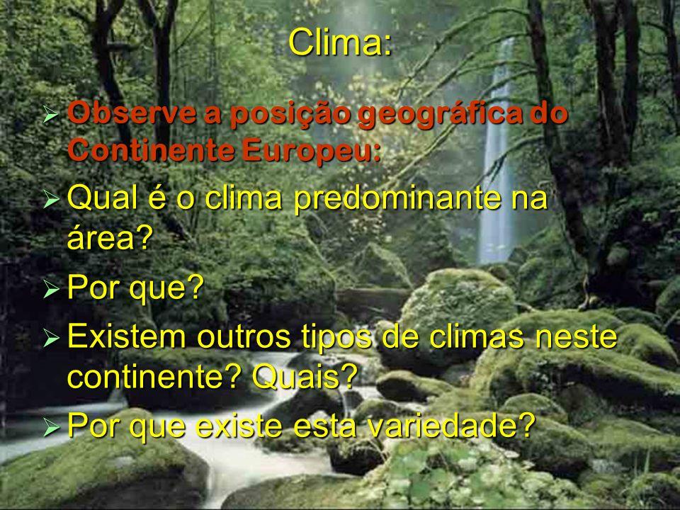 Clima: Qual é o clima predominante na área Por que