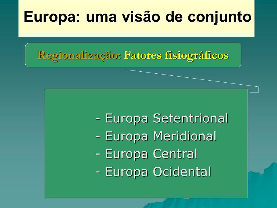 Europa: uma visão de conjunto