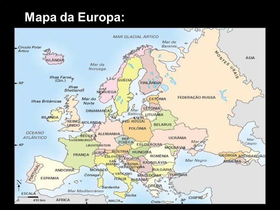 Mapa da Europa: N