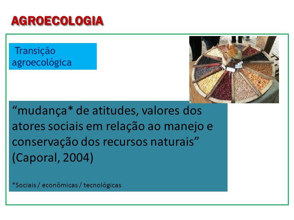 AGROECOLOGIA Transição agroecológica.
