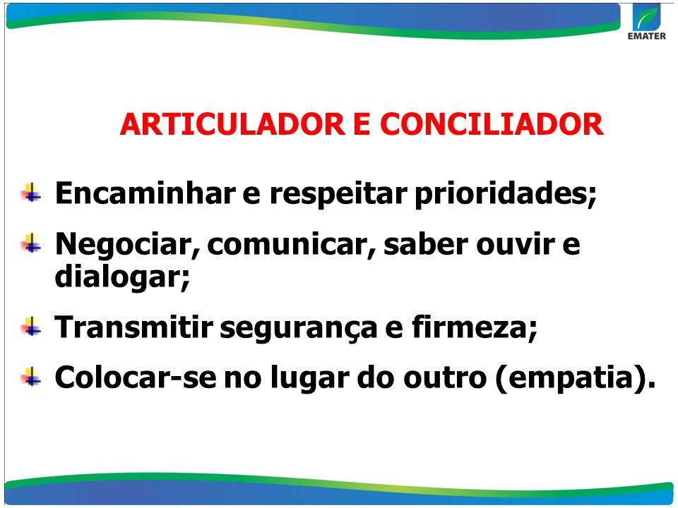 ARTICULADOR E CONCILIADOR