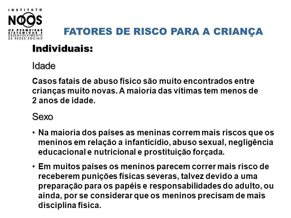 FATORES DE RISCO PARA A CRIANÇA