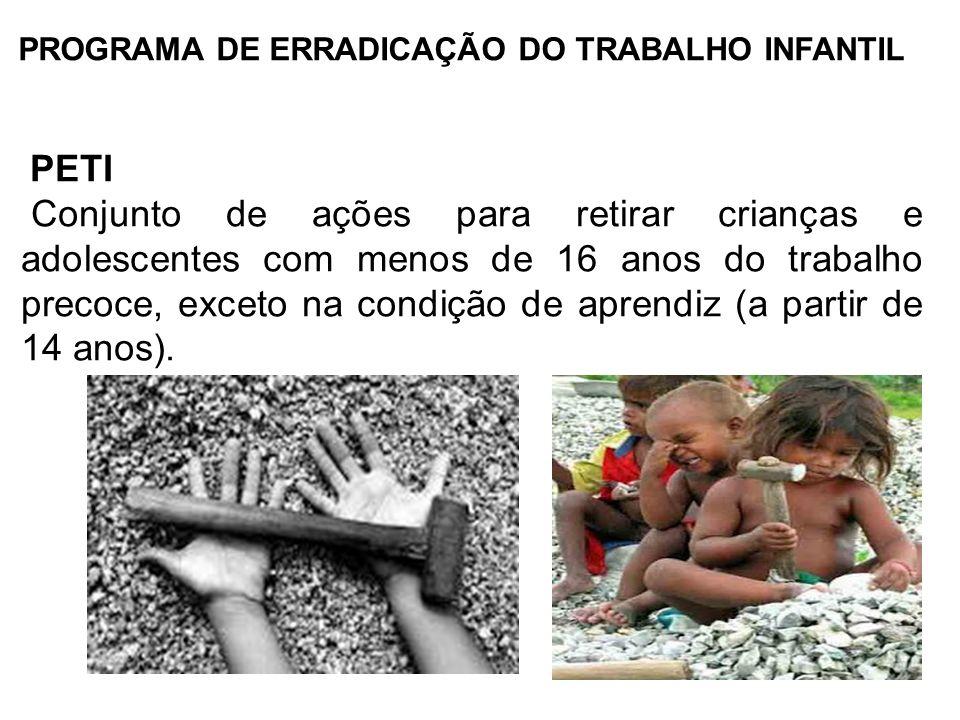 PROGRAMA DE ERRADICAÇÃO DO TRABALHO INFANTIL