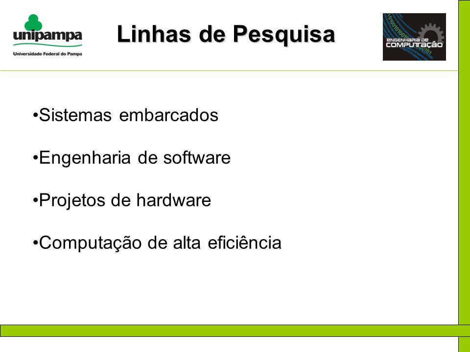 Linhas de Pesquisa Sistemas embarcados Engenharia de software