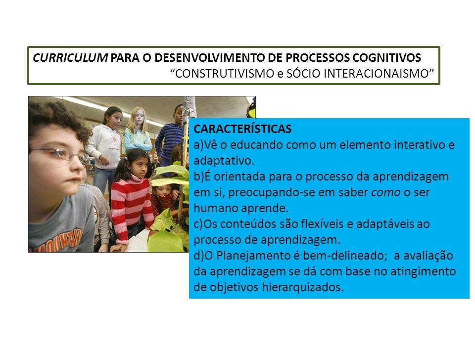 CURRICULUM PARA O DESENVOLVIMENTO DE PROCESSOS COGNITIVOS