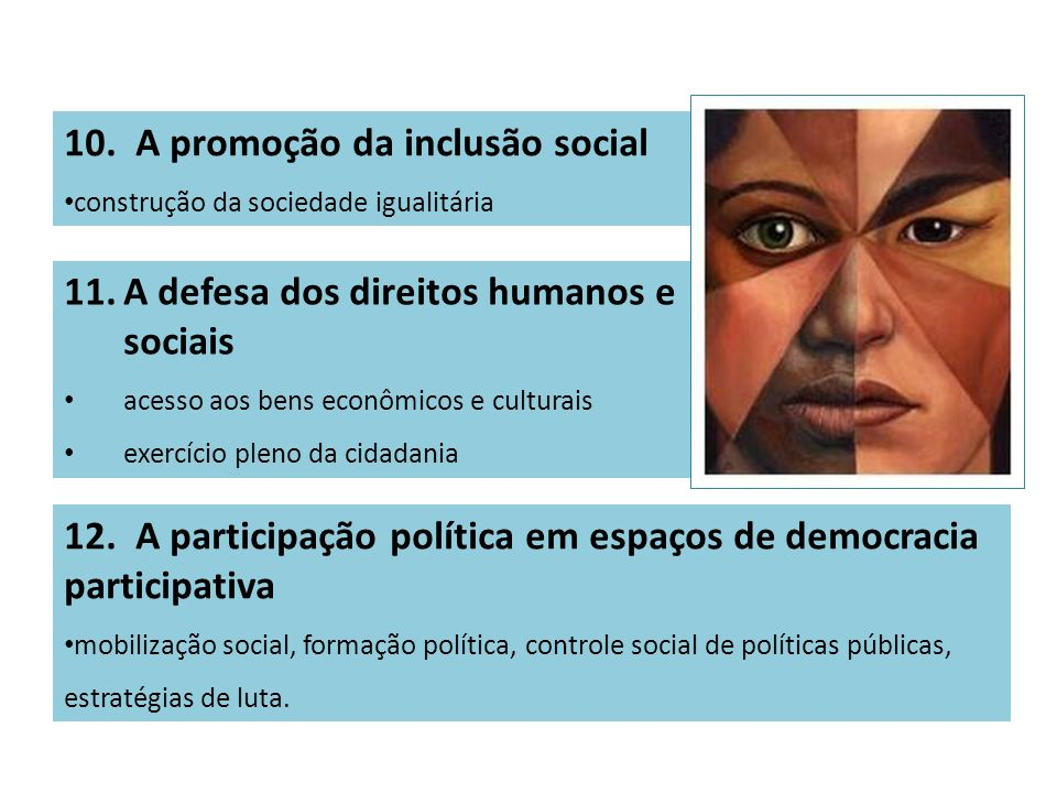 10. A promoção da inclusão social