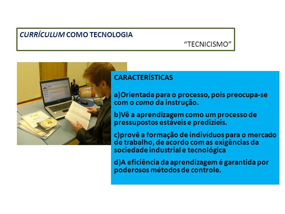 CURRÍCULUM COMO TECNOLOGIA