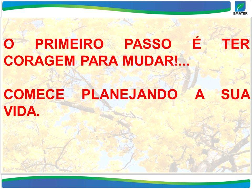 O PRIMEIRO PASSO É TER CORAGEM PARA MUDAR!...
