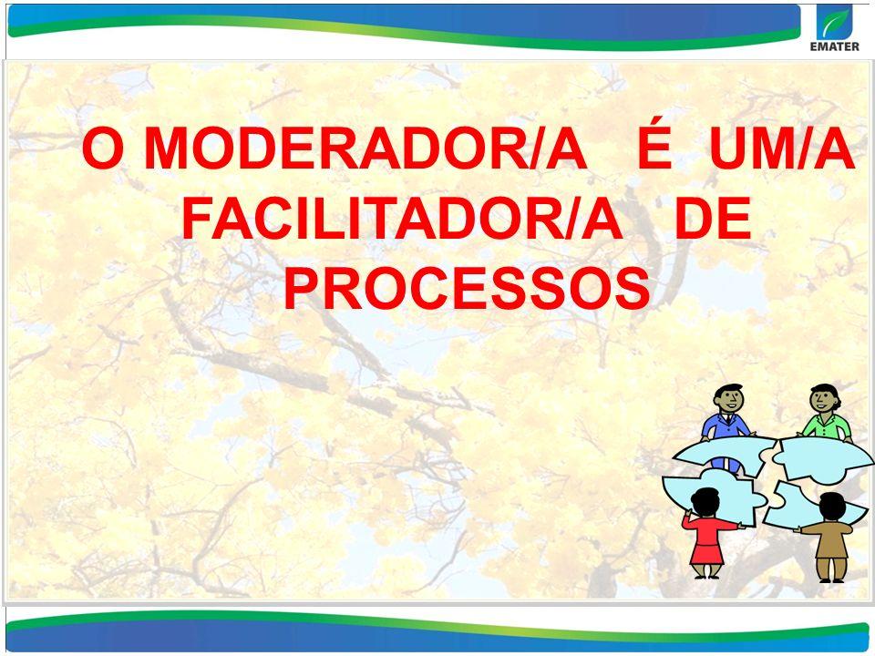 O MODERADOR/A É UM/A FACILITADOR/A DE PROCESSOS