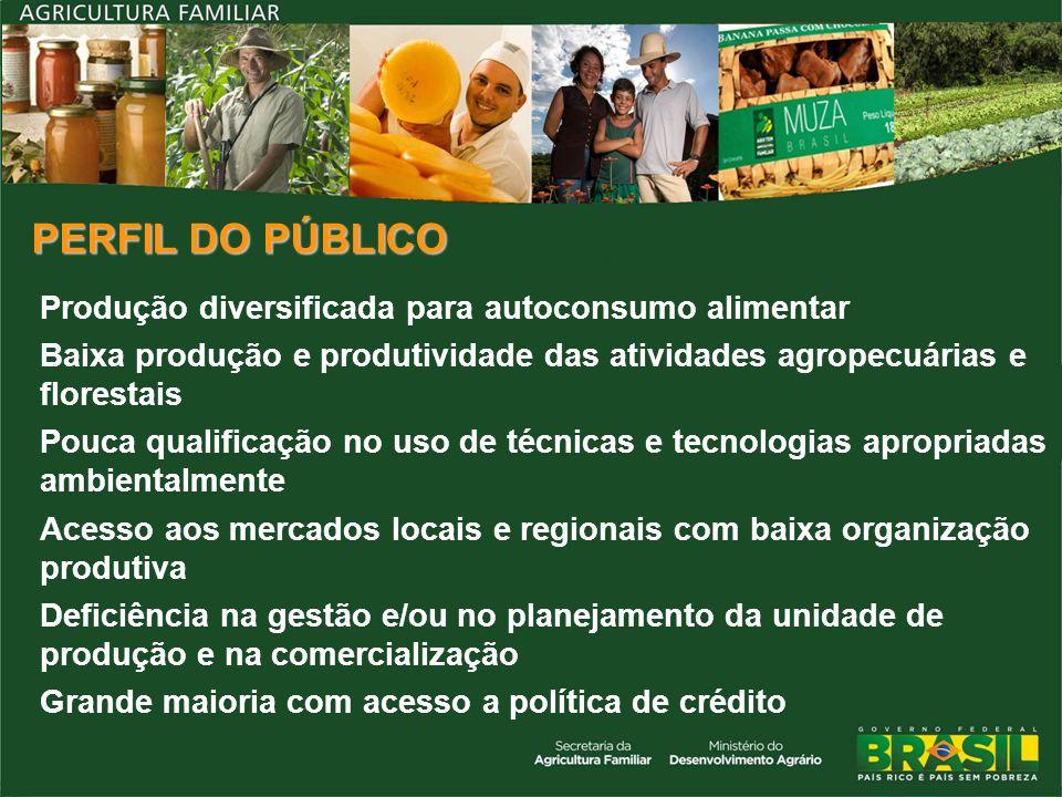 PERFIL DO PÚBLICO Produção diversificada para autoconsumo alimentar