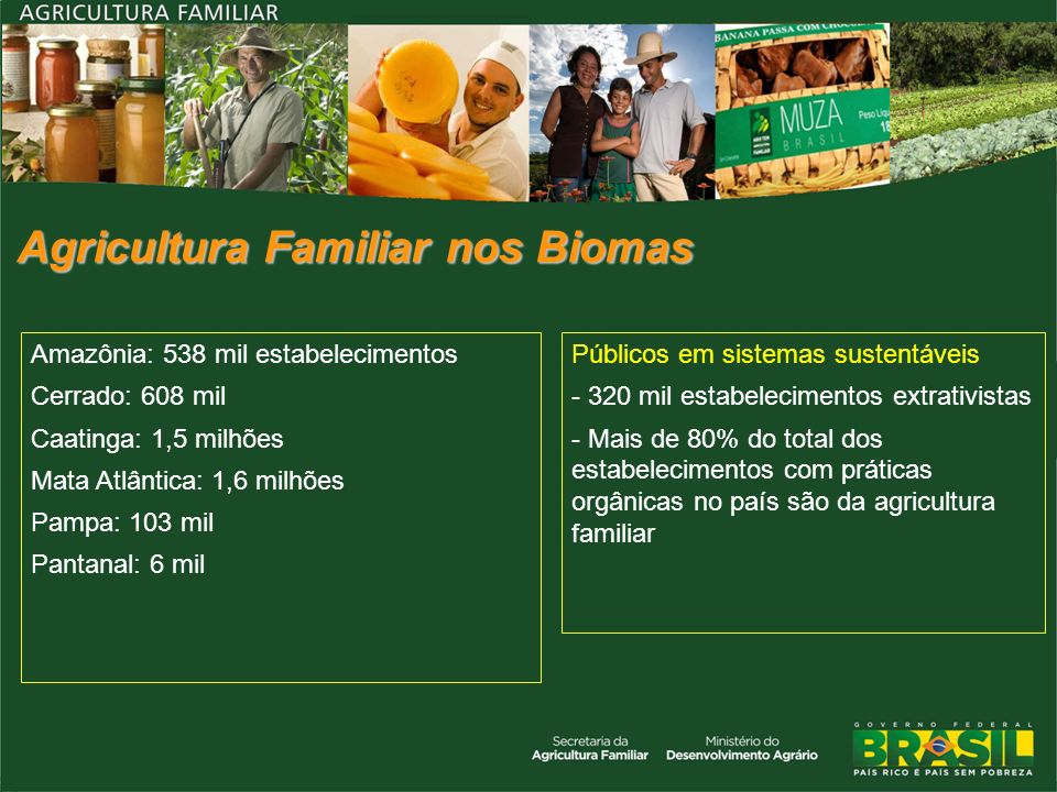 Agricultura Familiar nos Biomas